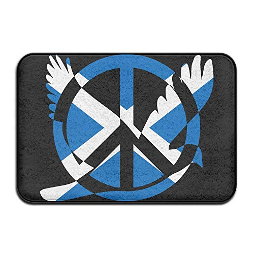 Scotland Flag Peace Sign Symbol Indoor Outdoor Entrance Rug Non Slip Standing Mat Doormat Rugs Home by HONMAt-Non