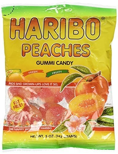 Haribo Gummies - Peaches - 5 oz - 3 Pack