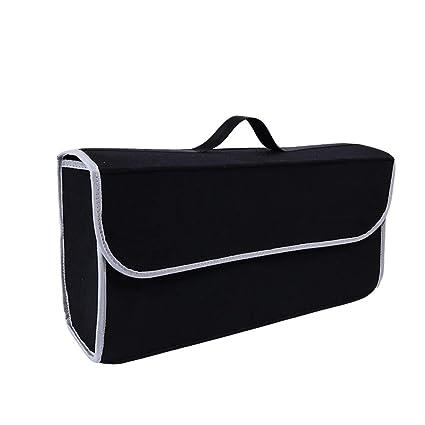 Lvguang Bolsa Organizadora para Coche, Organizador Maletero Coche Multifuncional Caja de Almacenamiento Furgoneta (Negro, 50 * 17 * 25cm)