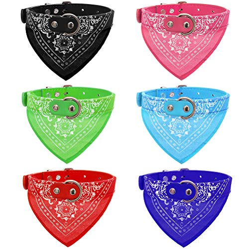 OFPUPPY Dog Bandana Collar - 6 Pack Pet Triangle Bibs Collars with Paisley Pattern for Puppy Cat (Best Bandana Bib Pattern)