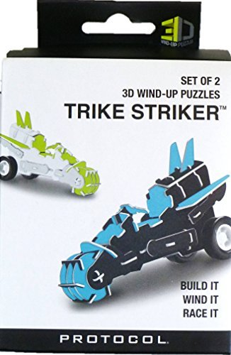 Wind Up Tricycle (Set of 2 3D Wind-up TRIKE STRIKER Puzzles)