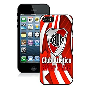 iPhone 5 5S Case ,Unique And Fashionable Designed Case With River Plate 1 Black For iPhone 5 5S Phone Case
