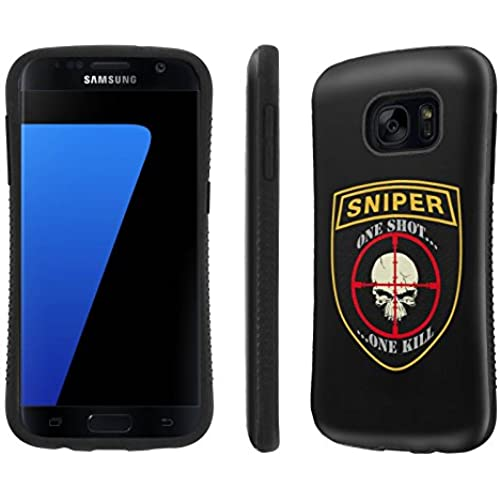 Galaxy [S7] Tough Designer Case [SlickCandy] [Black Bumper] Ultra Shock Absorbent - [Sniper] for Samsung Galaxy S7 / GS7 Sales