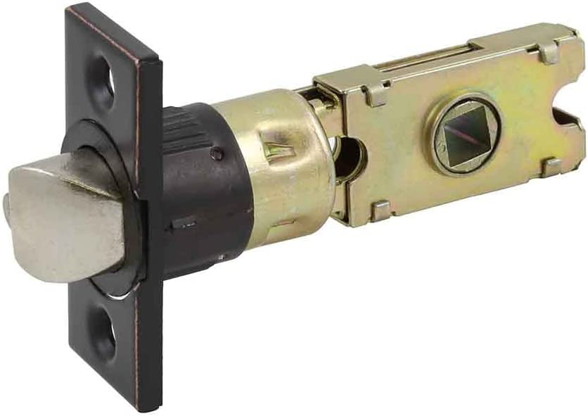 Design House 582197 Emblem Series locksets 6-Way Universal Square Spindle Entry Latch Oil Rubbed Bronze