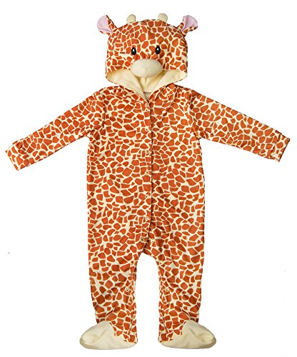 [Brown Giraffe Baby Polyester Knit Halloween Costume, Size 6-9mth] (Dad Mom And Baby Halloween Costumes)