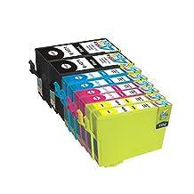 8 Pack - Remanufactured Ink Cartridges for Epson #127 T127 127 T127120 T127220 T127320 T127420 Inkjet Cartridge Compatible With Epson Stylus NX625 NX530 WorkForce 633 630 635 840 645 845 WF-7010 WF-7510 WF-7520 60 545 WF-3540-WF-3520 WF-3530