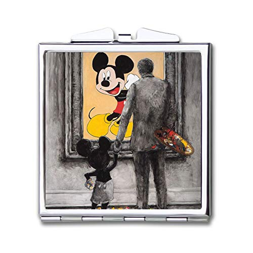 DISNEY COLLECTION Makeup Mirror for Women Girls Disney and Mickey Mouse Pattern -