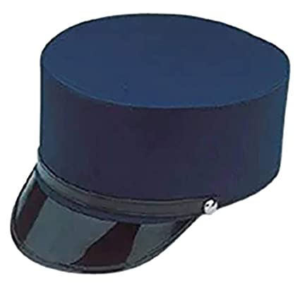 Amazon.com  Adult Navy Blue Train Engineer Conductor Driver Hat Costume  Accessory  Toys   Games 7342fada18e