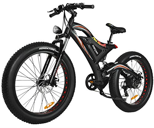 Add motoR Addmotor Motan 750W Electric Bicycles 48V 11.6AH Battery Fat Tire Ebikes Mountain Snow Beach Full Suspension 2018 M-850 P7 Pedal Assist Electric Bikes+Fenders(Red) (26' Womens Mountain Sport Bike)