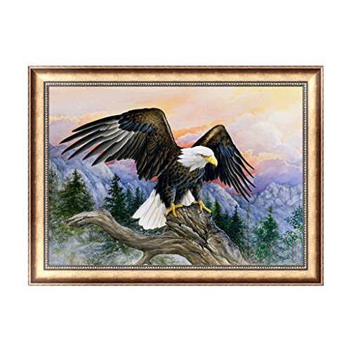 Eagle 5 Embroidery (BloomingJS 5D DIY Eagle Diamond Embroidery Painting Rhinestone Cross Stitch Home Decor Gift)