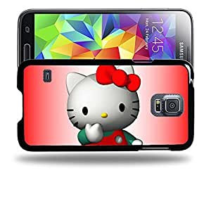 Case88 Designs Hello Kitty Collection 3D Hello Kitty Protective Snap-on Hard Back Case Cover for Samsung Galaxy S5