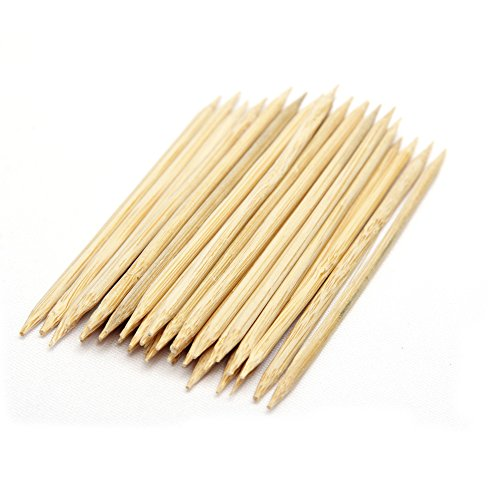 Bamboo Skewers Floral Sticks 4 Inch, 30.000 Units with Double Point by Topenca Supplies by Topenca Supplies