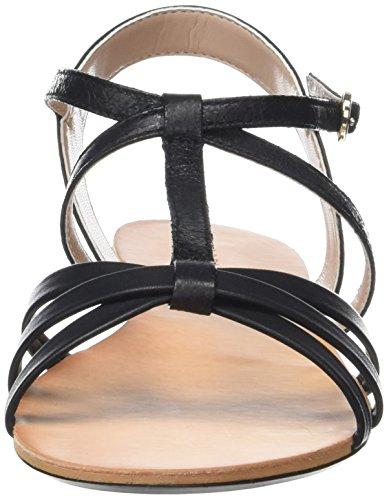 ESPRIT Adya T-Strap, Sandalias Planas Mujer Negro (001 Black)