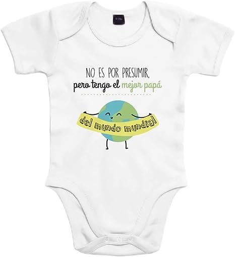 SUPERMOLON Body beb/é manga larga Baby Born to rock Blanco algod/ón para beb/é 3-6 meses