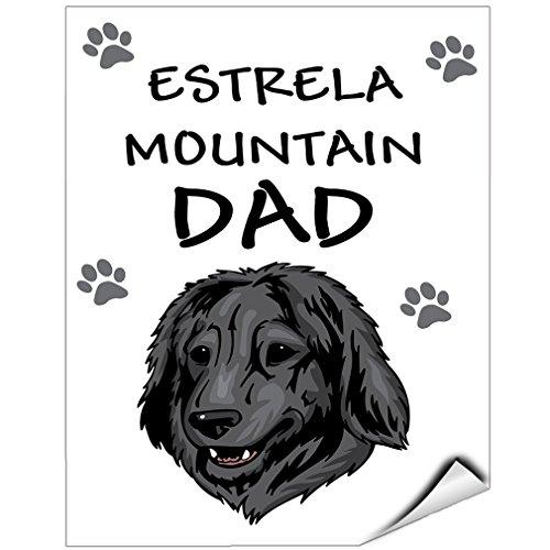estrela-mountain-dog-dad-vinyl-label-decal-sticker-9-inches-x-12-inches