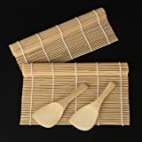 Sushi Maker Kit DZT1968 New Rice Roll Mold Kitchen DIY Mould Roller Mat Rice Paddle Set
