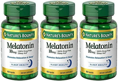 Amazon.com: Melatonin 10 mg, 3 Bottles (60 Count): Health & Personal Care