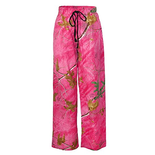 (Boxercraft Women's Realtree Camouflage Flannel Pajama Pants, XL, Pink)