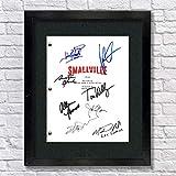 Smallville TV Autographed Signed Reprint 8.5x11 Script 13x15 Framed Tom Welling, Kristen Kreuk Superman Clark Kent Lana Lang Lex Luthor