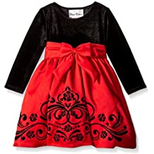 Rare Editions Little Girls' Velvet To Matte Satin Social Dress Size Toddler