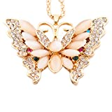 N.egret Golden Butterfly Crystal Women Jewelry Keychain Gift Ring for Mom Wife Birthday Anniversary