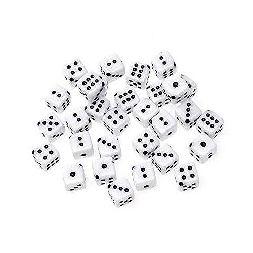 Jewelry Designer 0723-01 Dice Beads White 10Mm 30Pc Dice Jewelry