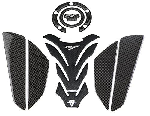 KODASKIN Carbon Tank Pad Sticker Decal emblem GRIPPER STOMP GRIPS EASY for YAMAHA YZF1000 R1