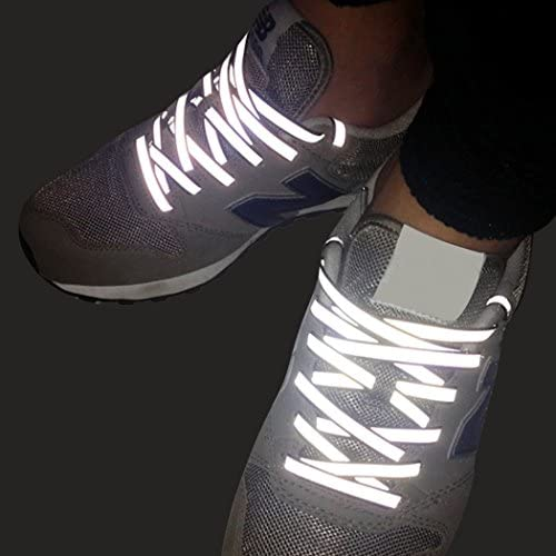 Reflective High Visibility Elastic Shoe Laces Trainer Boot Running Sports Safety