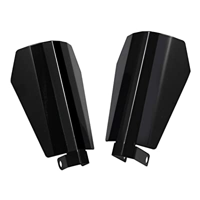PBYMT Gloss Black Coffin Cut Handguards Hand Guards Compatible for Harley Sportster Touring Street Glide Road King Electra Glide 2007-2020 (Large): Automotive
