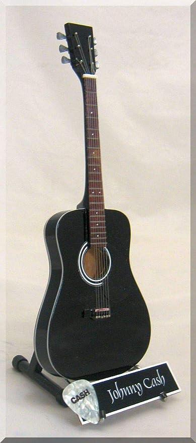 Johnny Cash Guitarra en miniatura Martin Hombre en Negro w/nombre ...
