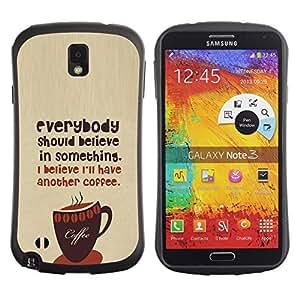 "Hypernova Slim Fit Dual Barniz Protector Caso Case Funda Para Samsung Note 3 [Coffee Caf? Barista Hipster creas texto""]"