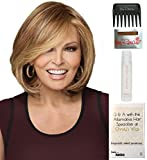 Bundle - 5 items: Upstage LARGE CAP by Raquel Welch Wig, 15 Page Christy's Wigs Q & A Booklet, Wig Shampoo, Wig Cap & Wide Tooth Comb (Color Selected: RL3129)