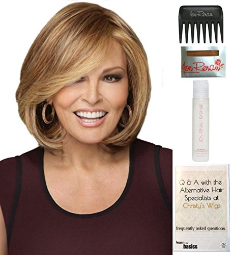 Bundle - 5 items: Upstage by Raquel Welch Wig, 15 Page Christy's Wigs Q & A Booklet, Wig Shampoo, Wig Cap & Wide Tooth Comb (Color Selected: RL2925) by Raquel Welch & Christy's Wigs