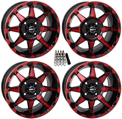 STI HD6 UTV Wheels/Rims Red/Black 14″ Polaris RZR 1000 XP / Ranger XP 900/1000