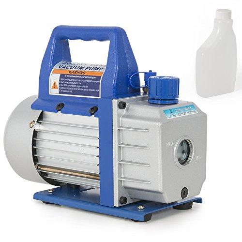 "ARKSEN Rotary Vane Deep Vacuum Pump, 1/3-HP, 3CFM Air Conditioner Refrigerant HVAC 1/4"" Flare Inlet Port"