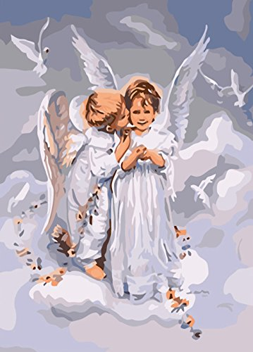 Paint Color By Number Kit,Angel's Kiss,16-Inch by 20-Inch