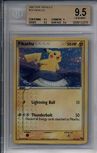 Pikachu Error #12/17 BGS 9.5 GEM MINT Pokemon POP Series 5 Rare Holo Foil TCG CCG Photo - Pokemon Gaming