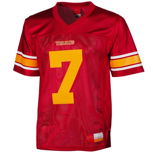 NCAA USC Trojans #7 Conquest Twill Football Jersey - Cardinal (Usc Football Jersey)