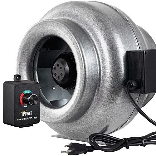 iPower 12 Inch 1060 CFM Duct Inline Fan HVAC Exhaust Blower with Variable Speed Controller by iPower