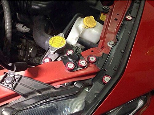 EPMAN 8PCS Neo Chrome Epman CNC billet Aluminum Fender Bumper Washer Bolt Engine Dress Up KIT EP-DP01S-7C