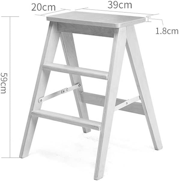 ZHPBHD Folding Stool, Solid Wood Creative Simple Folding Ladder Stool Kitchen Stool Portable Stool Folding Household Stool 48×40×62.5cm Step stool (Color : #4) #4