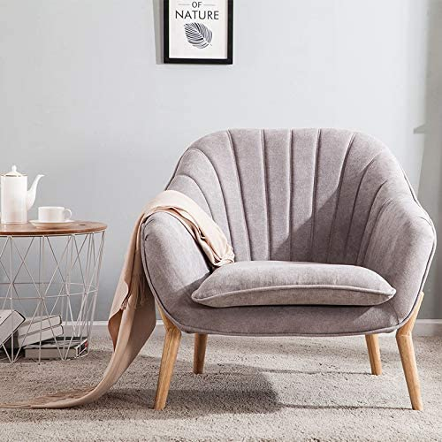 Wamiehomy Modern Suede Fabric Armchair Tub Occasional Chair With