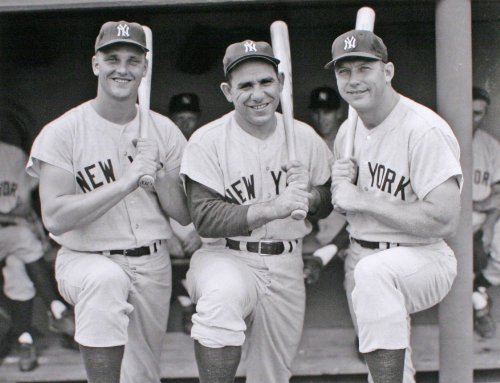 The New York Yankees Roger Maris, Yogi Berra, and Mickey Mantle in an 11x14 Classic Black and White ()