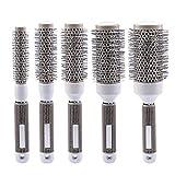 inkint 5pcs Round Hair Brush Set Ionic Thermal Hair Brush Detangling...