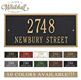 Personalized Cast Metal Address plaque - The Hartford Plaque. Display your address and street name. Custom house number sign.