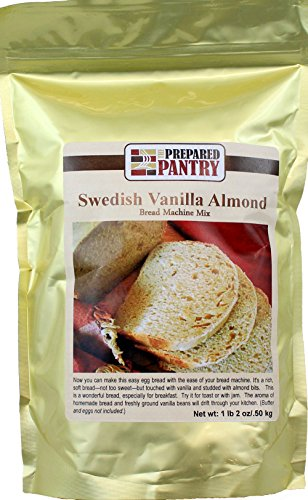 - The Prepared Pantry Swedish Vanilla Almond Gourmet Bread Machine Mix, 18 Ounce