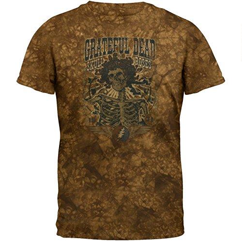 ead - Mens 71 Skull & Roses Tie Dye T-shirt Large Brown ()
