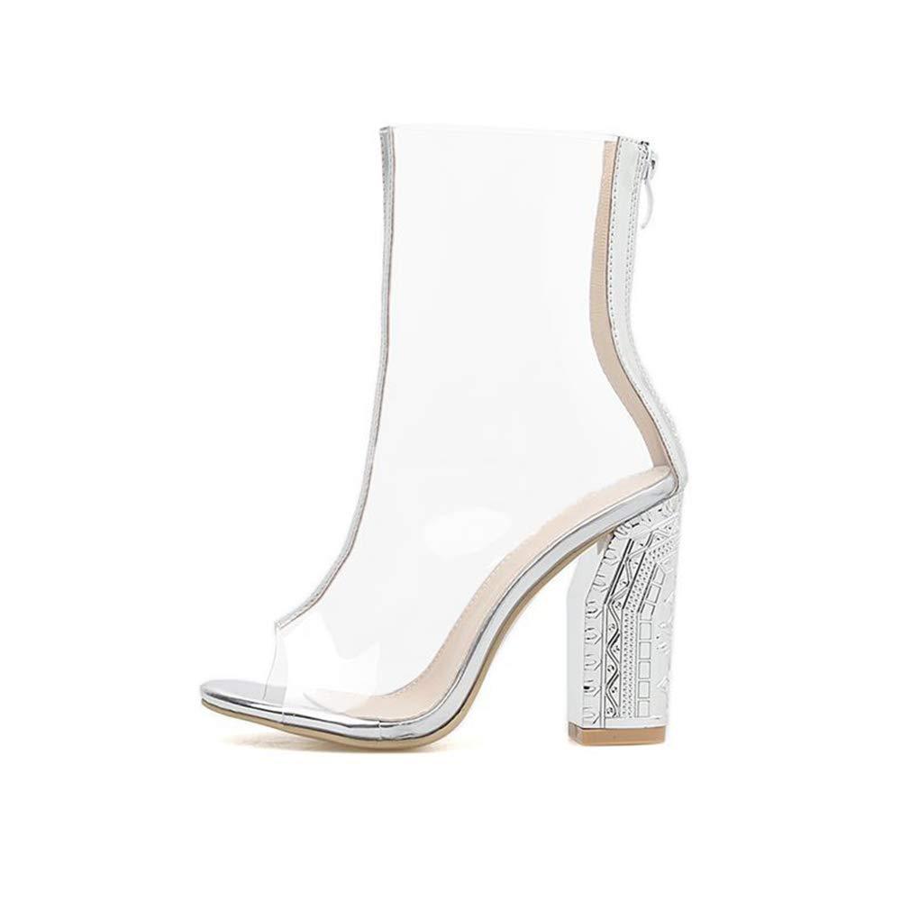 d7df4118ac1ac Amazon.com: YXB Women's Sexy Boots 2019 Microfiber European American ...