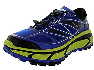 Hoka One One Men's M Mafate Speed Blue/Lime/Black Running Shoe 11.5 Men US