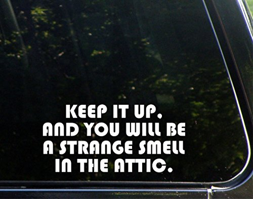 Keep It Up, And You Will Be A Strange Smell In The Attic. - 8
